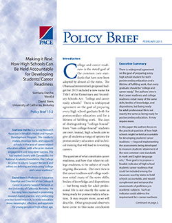Publications Page 7 Policy Analysis For California Education